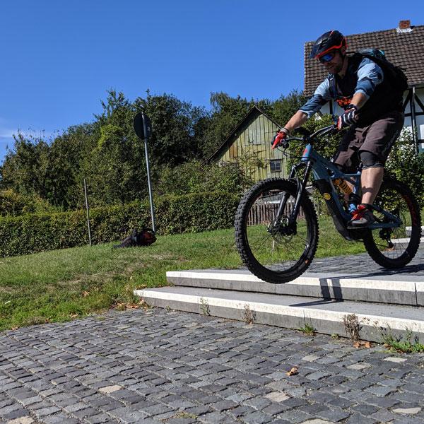 eMTB advanced Trailride -ebike Fahrtechnik Kurs sauerland, eifel, taunus, pfalz